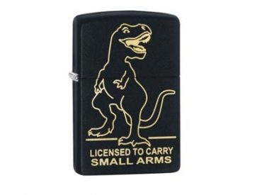 ZIPPO T-REX LICENSED TO CARRY