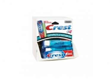 CREST T/PASTE W/TOOTHBRUSH DIS