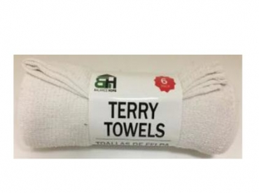 WHITE TERRY CLOTH TOWELS