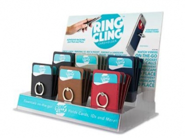 CARD CLING RING HOLDER