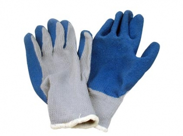 BLUE LATEX DIP GLOVES