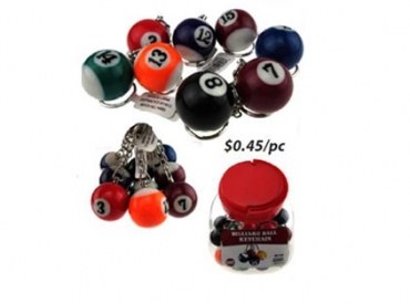 POOL BALL KEY CHAIN