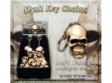 SKULL BONE KEY RING