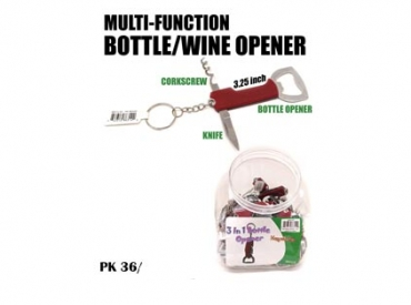 3-IN-1 BOTTLE OPENER KEYCHAIN