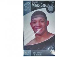 STOCKING WAVE CAP - BLACK