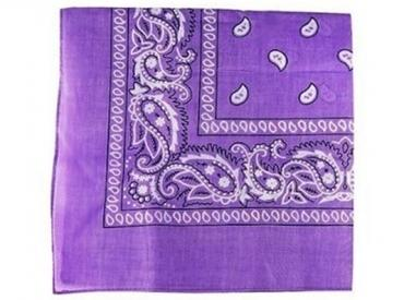 PURPLE PAISLEY BANDANA