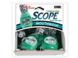 SCOPE W/CREST MOUTHWASH