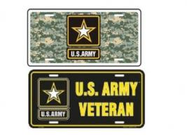 ARMY METAL LICENSE PLATE