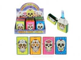 CANDY SKULL DBL TORCH LIGHTER
