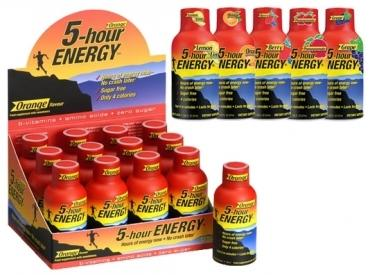 5 BOXES OF 5 HOUR ENERGY
