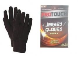 BROWN JERSEY GLOVES-PRO TOUCH