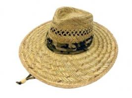 STRAW HAT W/CAMO BAND