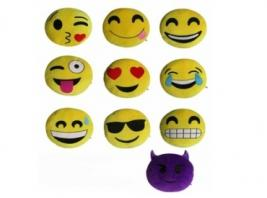 EMOJI EMBROIDERED PILLOW