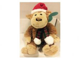 HOLIDAY MONKEY W/HAT & SCARF