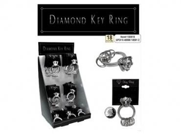 DIAMOND EARRING/KEY RING COMBO