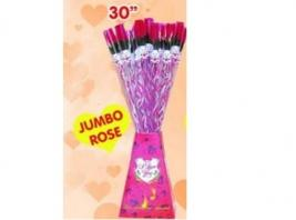 JUMBO RED ROSE W/BEAR-30in