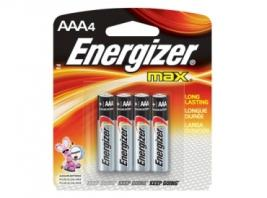 ENERGIZER MAX AAA 4 PK BATTERY