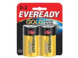EVEREADY GOLD ALKALINE D 2 PK