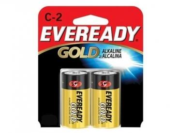 EVEREADY GOLD ALKALINE C 2 PK
